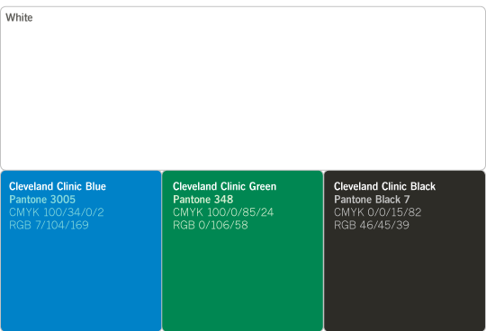 Colors « Cleveland Clinic OnBrand